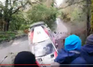 Latvalas krasch i Wales Rally GB