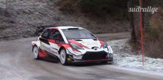 Kalle Rovanperä och hans första dag med WRC-Yarisen