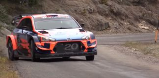 Ott Tänak bakom ratten på sin nya Hyundai i20 WRC