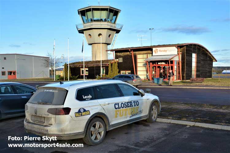 Torsby Flygplats i januari
