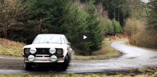 Mikko Hirvonen sladdar brett med sin Ford