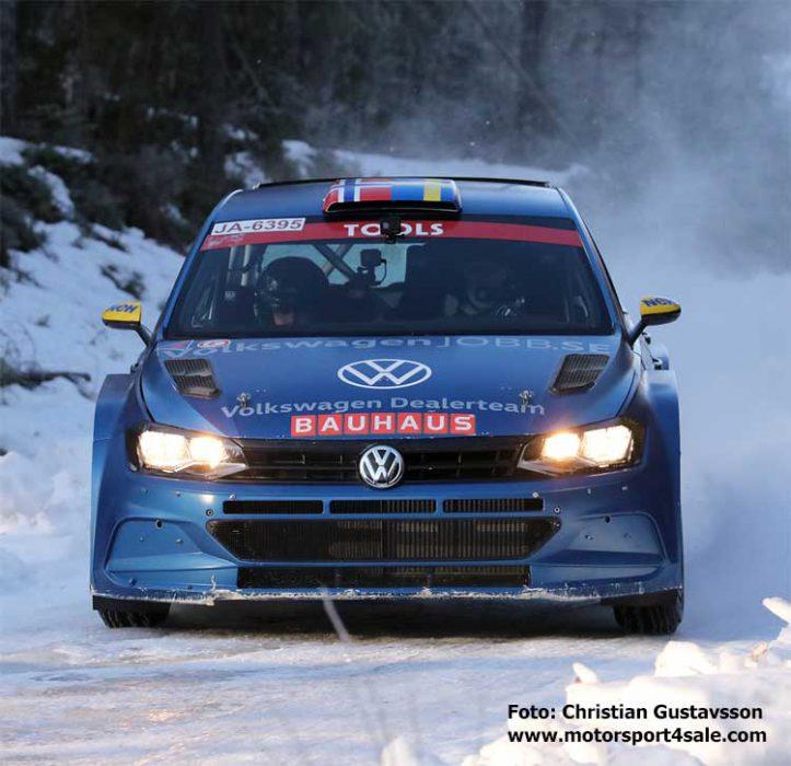 Johan Kristoffersson tränar inför Rally Sweden