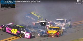 Kraschrekord när NASCAR startade säsongen med Busch Clash