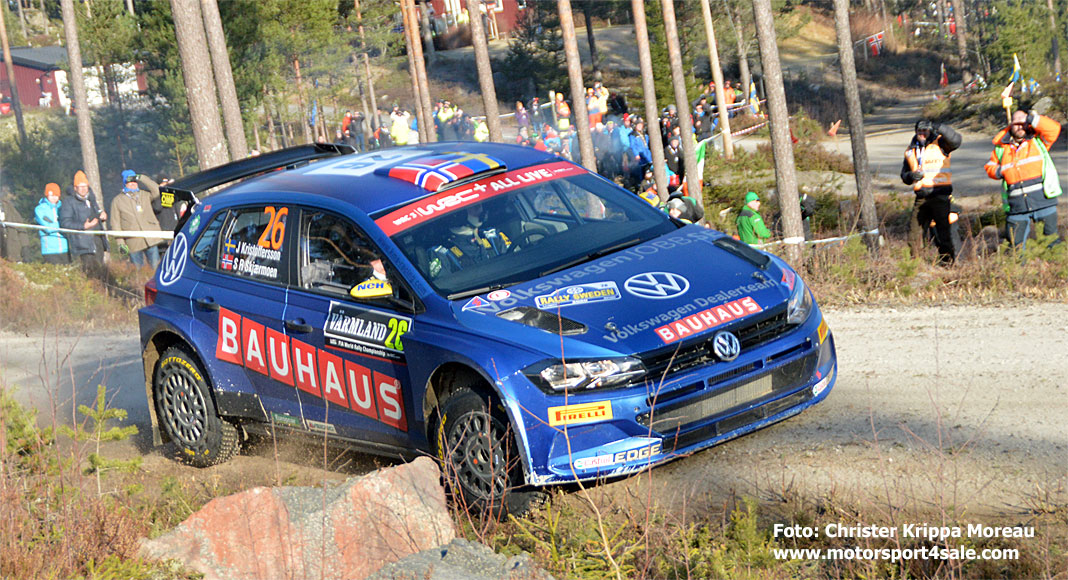 Johan Kristoffersson bäste svensk i Rally Sweden 2020