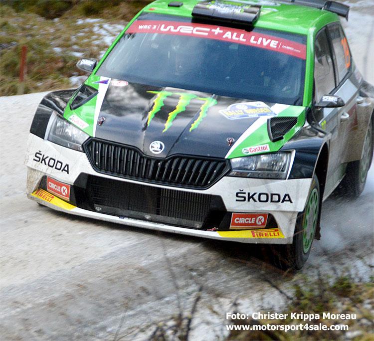 Oliver Solberg i Rally Sweden 2020
