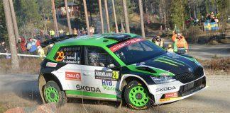 Punktering förstörde Oliver Solbergs chanser på pallplats i Rally Sweden