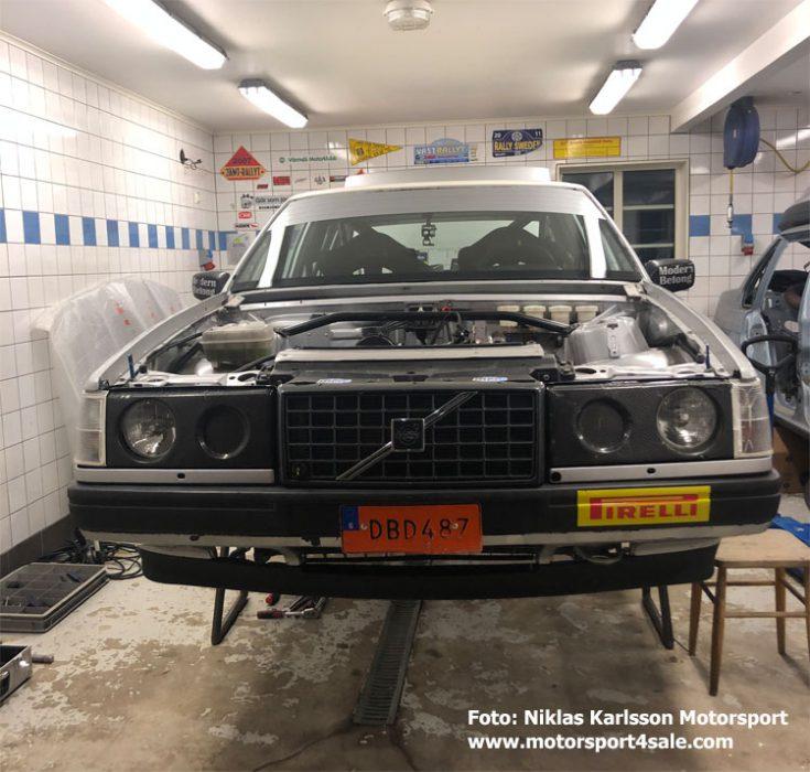 Niklas Karlssons Volvo har fått en översyn under vintern