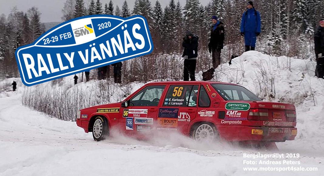 Tider och resultat för Rally Vännäs 2020