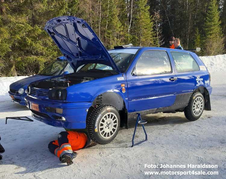 Johannes Haraldsson i test före Rally Vännäs