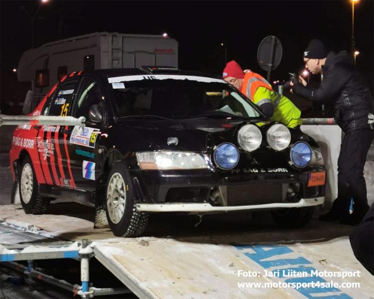 Jari Liiten på rampen i Rally Vännäs