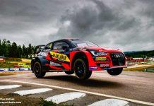 Robin Larsson flyger fram i Audin