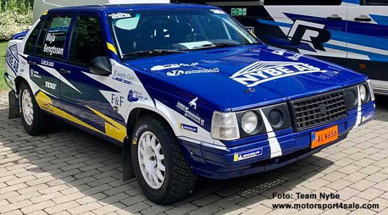 Team Nybes Volvo 940 som Jonas Kruse ska köra i Slottssprinten 2020