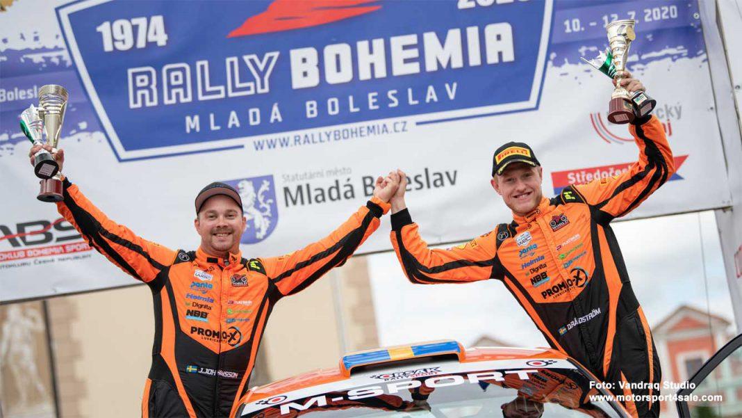 Dennis Rådström och Johan Johansson vann Rally Bohemia