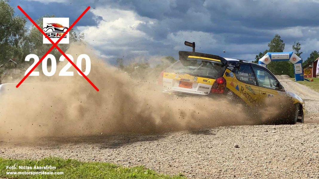 Sydsvenska Rallycupen 2020 ställs in