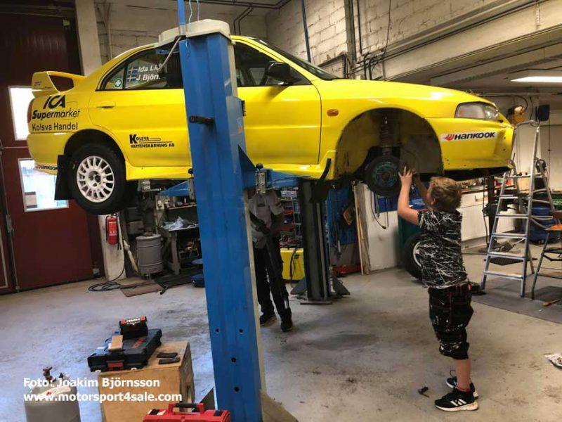 Team Björnsson i garaget