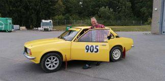 Peter Rådén med sin Opel Ascona B