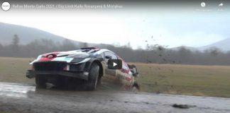 Kalle Rovanperä på glid i Rallye Monte Carlo