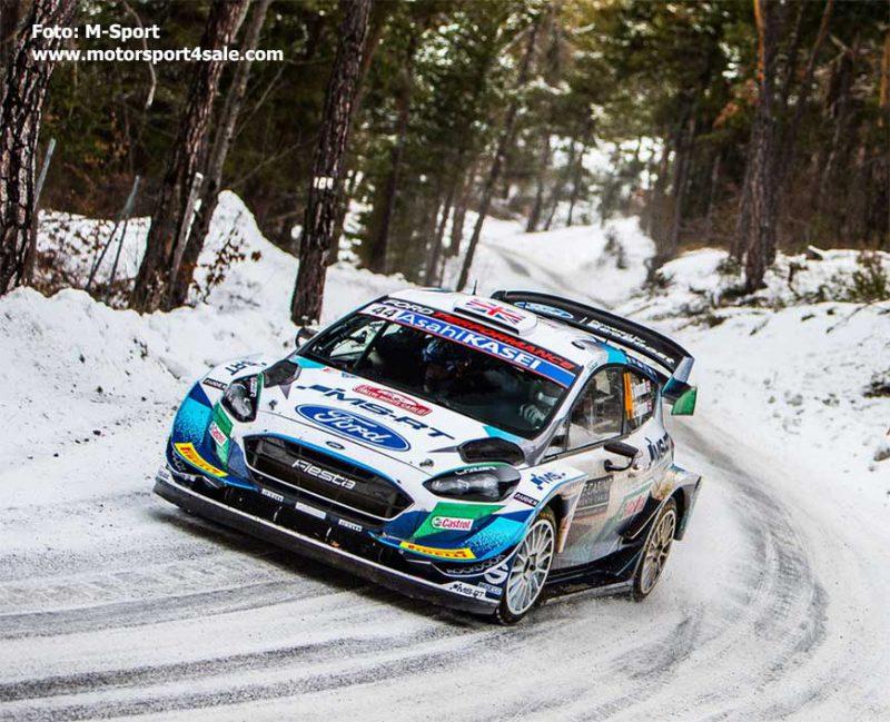 Gus Greensmith i Rallye Monte Carlo 2021