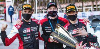 Ogier Ingrassia och Latvala efter segern i Rallye Monte Carlo