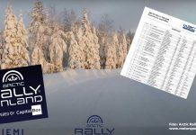 Anmälningslistan till Arctic Rally Finland