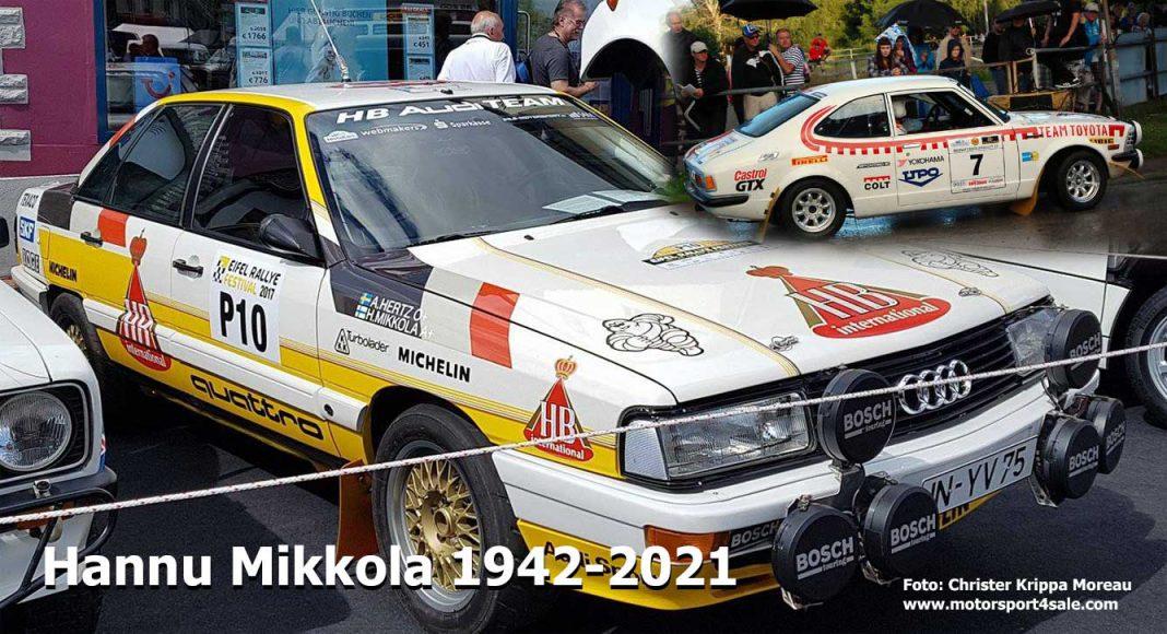 1983 års världsmästare Hannu Mikkola har avlidit