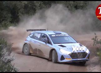 Oliver Solberg testar sin nya Hyundai i20 Rally2