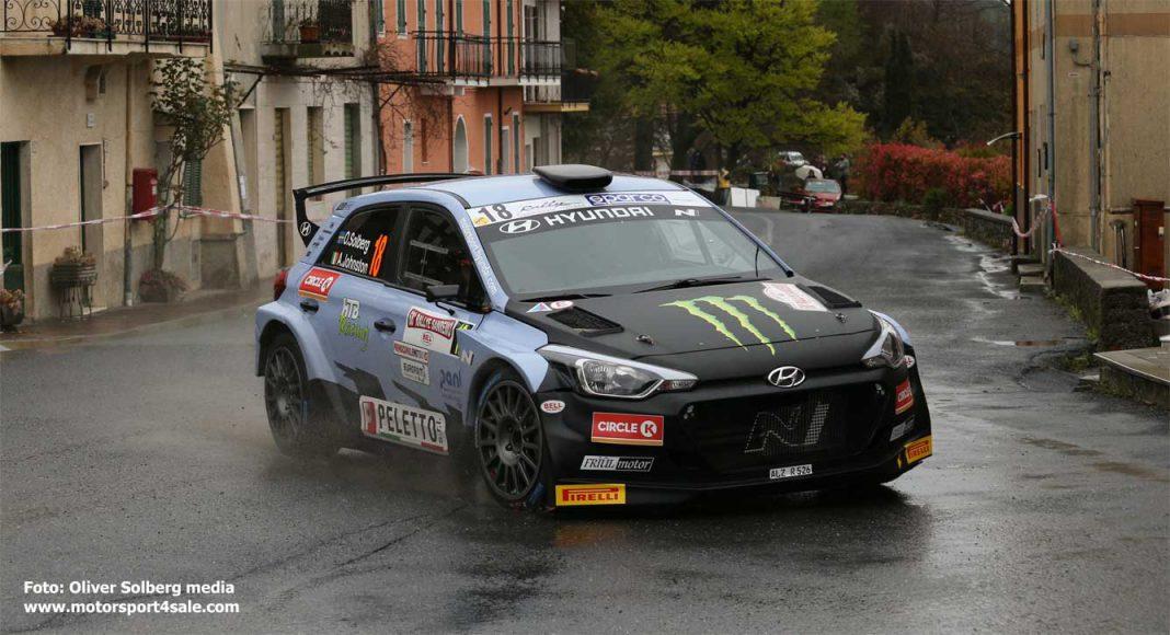 Oliver Solberg i Rally Sanremo