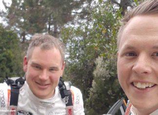 Rally Sanremo tog stopp på SS4 för Tom och David