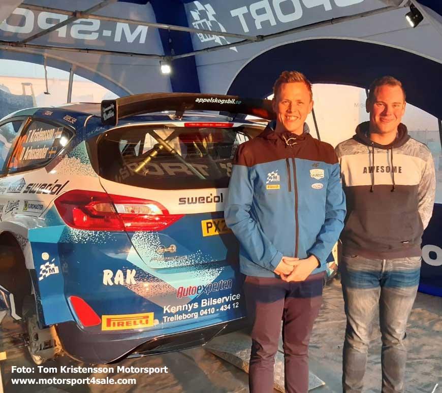 Tom och David framför nya WRC2-Forden