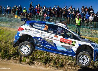 Tom Kristensson och David Arhusiander flyger fram i Rally de Portugal 2021
