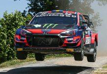 Oliver Solberg tog sin första seger i WRC-bilen