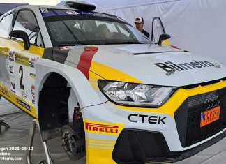Emil Bergkvist gör debut med nya Audin i Rally Killingen