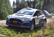 Mattias Adielsson efter SM-premiären i Rally Killingen